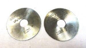2x Métal Lame De Scie Circulaire Hss Ø40 X 0,6 + 0,8 X 80 X 10 Von Werkö Neuf Urhwysaq-07212403-370366932