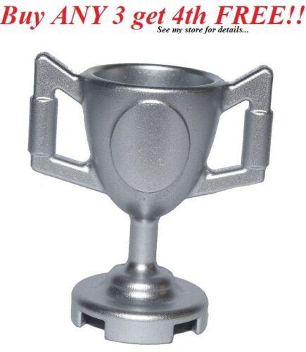 ☀️NEW LEGO MINIFIG MINIFIGURE Lego Utensil Trophy Cup Metallic Silver Champion