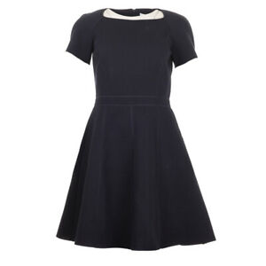 iBlues-Max-Mara-Dress-Navy-Flare-Jersey-Cotton-Pandoro-RRP-159-BG
