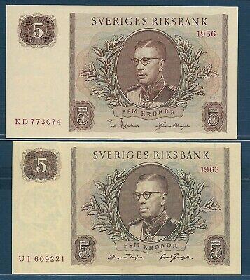 Pick 50a SWEDEN 5 Kronor 1962 UNC