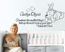 Sometimes the smallest things,Winnie the Pooh,LARGE wall decal,nursery
