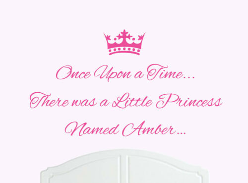 Once Upon a Time Princess Amber Wall Sticker Decal Bed Room Art Girl//Baby