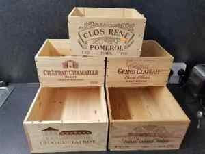 5-X-MIXED-GENUINE-FRENCH-WOODEN-WINE-CRATES-BOXES-WORKSHOP-KITCHEN-STORAGE
