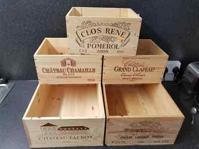 Cordiale 5 X Francese Originale Misti In Legno Vino Casse/scatole Workshop Cucina Storage-mostra Il Titolo Originale Durevole In Uso