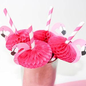 6 pcs Flamingo Trinken Strohhalme Vogel Hawaiian Beach Cocktail Party Geschirr
