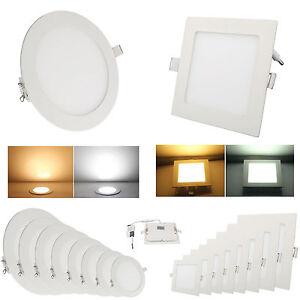 Bombillas-LED-Panel-Light-Licht-lampara-de-techo-instalacion-Downlight-Lamp