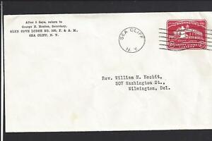 SEA-CLIFF-NEW-YORK-1932-COVER-ADVT-FRATERNAL-LODGE-NASSAU-CO-1880-OP