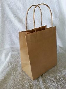 50-x-TODDLER-Kraft-Brown-Paper-Gift-Carry-Shopping-Bags-with-handles-200x170x100