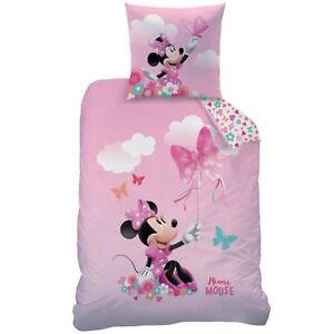 Biber-Bettwaesche-Disney-Minnie-Mouse-80-x-80-cm-135-x-200-cm-Flanell