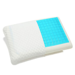LUXURY ORTHOPAEDIC MEMORY FOAM COOLING GEL CONTOUR BACK NECK SUPPORT PILLOW