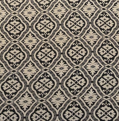 SALE!!! Renaissance Poly Chiffon Print Dress Fabric Material (Beige/Black)