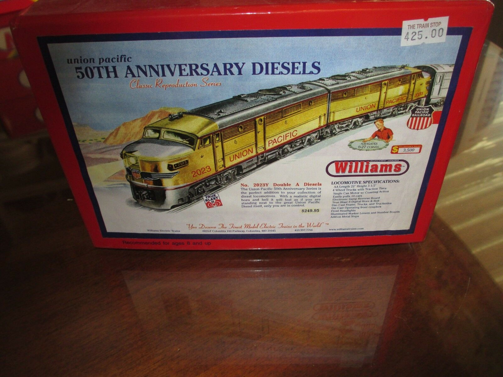 WILLIAMS 50th ANNIVERSARY - Union Pacific Classic Reproduction Series Train Set