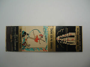Vintage Matchbook Cover Hotel New Yorker York City Famous for Ice Shows