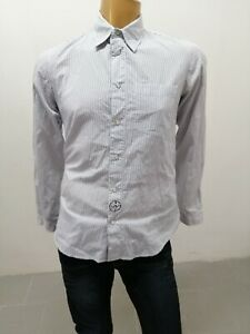 Camicia-ARMANI-JEANS-Uomo-Taglia-Size-M-Shirt-Man-Chemise-Homme-Cotone-P-7352