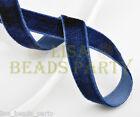 "New 10yards 3/8"" 10mm Velvet Ribbon Bows Wedding Party Decoration Sew Dark Blue"