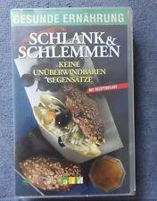 Gesunde Ernährung Schlank und Schlemmen Abnehmen gut essen VHS-Videokassette