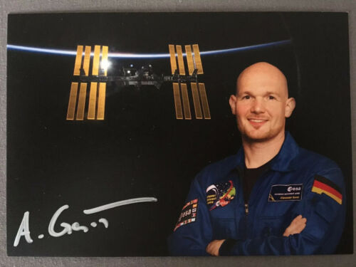 Handsignierte AK Autogrammkarte *ALEXANDER GERST* Deutscher Astronaut ESA RAR