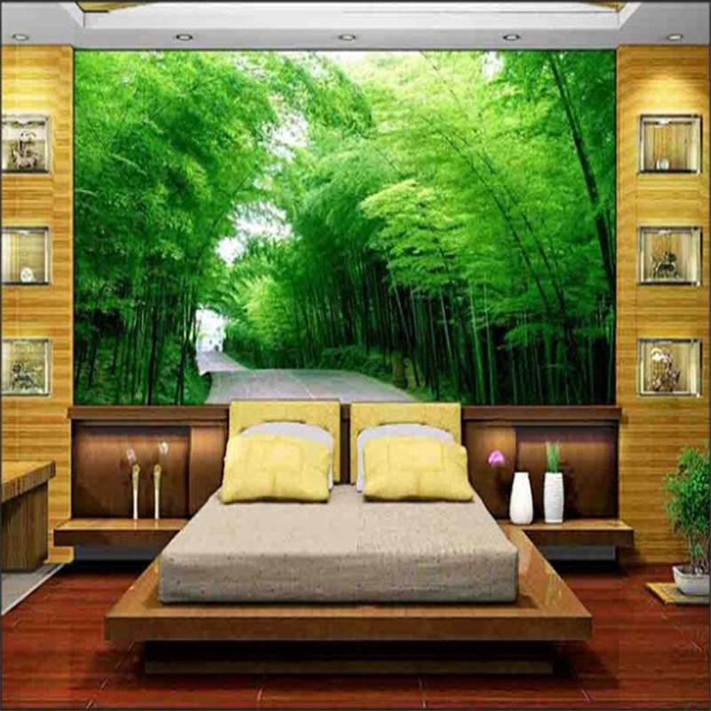 Exuberant Bamboo Sea 3D Full Wall Mural Photo Wallpaper Printing Home Kids Decor
