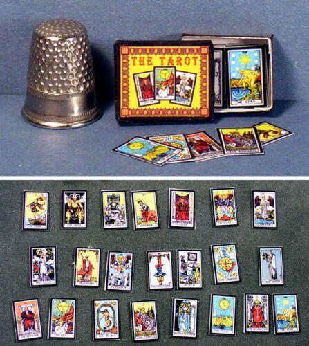 Dollhouse Miniature 1:12 scale Tarot Cards Boxed Set  dollhouse gypsy game