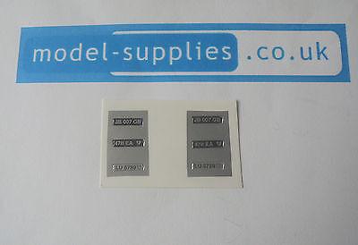 Corgi 270 007 Aston Martin Reproduction Number Plate Stickers