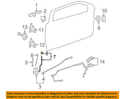 For 1986-1991 Porsche 944 Door Lock Operating Rod Genuine 95767YJ 1989 1987 1988