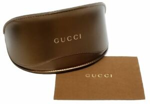 Gucci-Soft-Sunglass-Eyeglass-Case-Bronze-Copper-Gold-Flip-Top-New-Synth-Leather