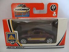 MATCHBOX MB37 AUDI TT - DARK RED. MIB/BOXED. 37. 'SUPERFAST SIZE'