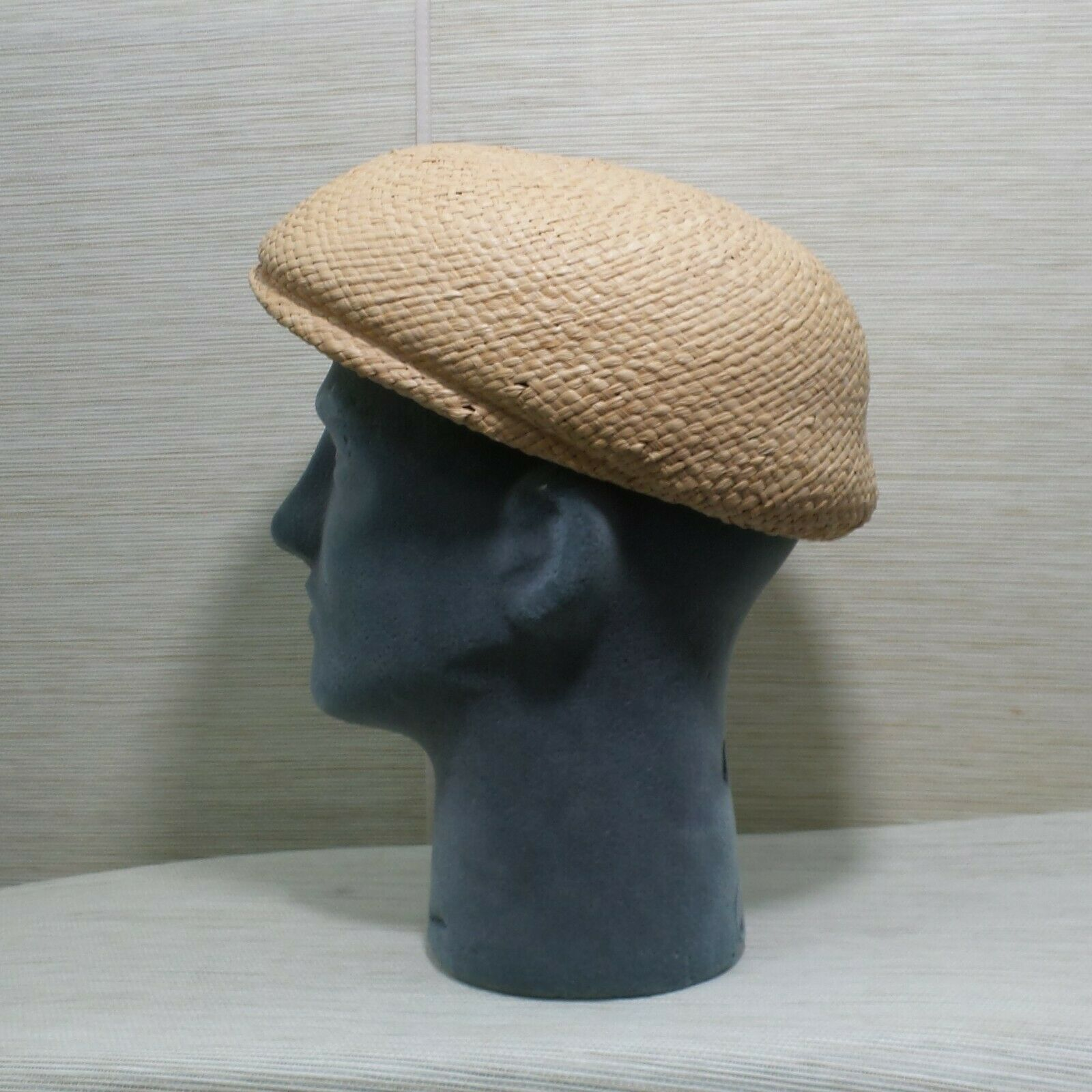Straw Cabbie Hat Cap Union Made Natural Newsboy M… - image 6
