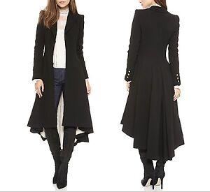 Dettagli su Giacca Cappotto Asimmetrico Donna Woman Asymmetric Coat Jacket COAT002 P
