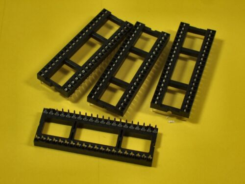 "Soldertail Tube-12 Sockets - .6/"" Width 40 Pin IC Sockets"