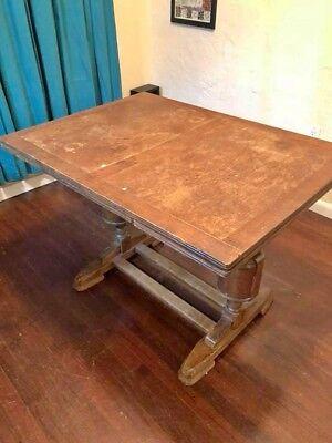 English Draw Leaf Trestle Dining Table