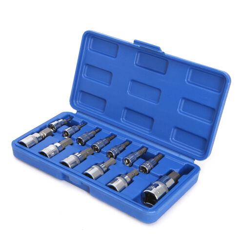 """Metric Allen Hex Ratchet Wrench 1//4/"""" 3//8/"""" 1//2/"""" Drive Socket Tools 13Pcs//set"""