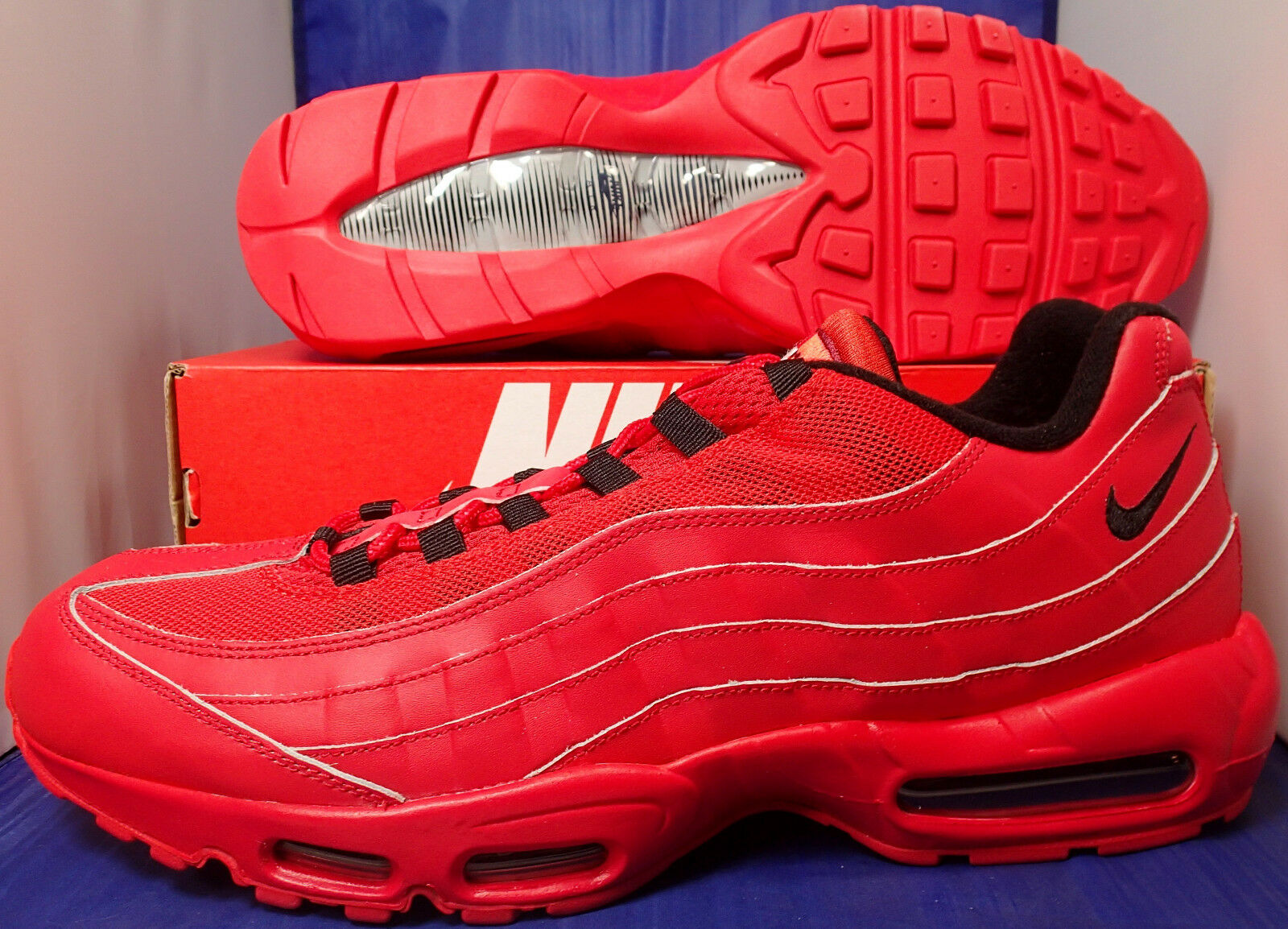 Nike Air Max 95 iD University Red Black SZ 15 ( 818592-992 )