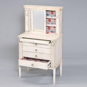Leven Jewelry Armoire Storage Cabinet Sliding Mirror Door