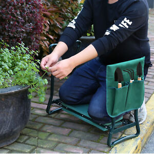 NEW-Garden-Kneeler-Seat-w-Kneeling-Pad-and-Tool-Pouch-Folding-Portable-Bench