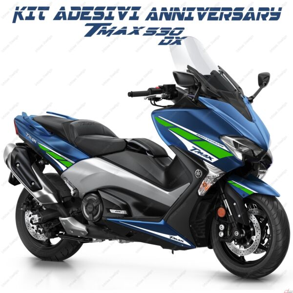 Adesivi Anniversary Compatibile Yamaha Tmax T-max 530 Dx Sx Bianco Verde 2017 Duurzame Modellering