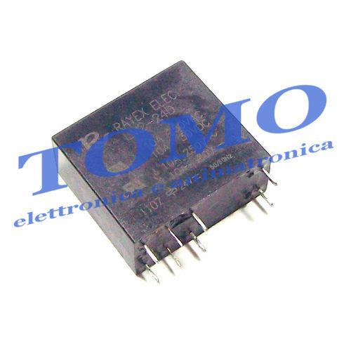 1 relè 24Vdc LM2-24D 5A//250VAC DPDT doppio scambio
