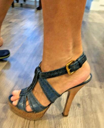 Prada Blue 8 Strappy Shoe