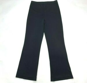 Exclusively Misook Black Pull-on Pants Stretch High Rise Elastic Waist Women M