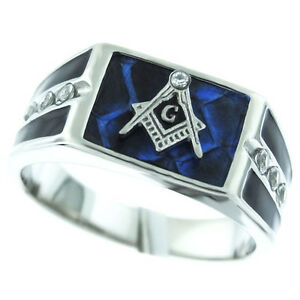 masonic logo seven stones silver stainless steel