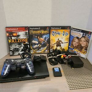 Sony-PS2-Playstation-2-Slim-Console-with-4-Games-1-Memory-Card-1-Controller