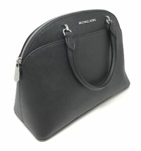 d3d5a344e581 ... coupon for michael kors emmy large dome satchel leather black crossbody  35h7sy3s3l a6e2a 6a860
