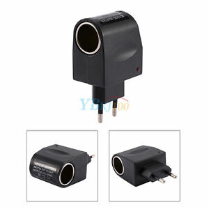 adaptateur convertisseur transformateur 220v 12v voiture allume cigare eu plug ebay. Black Bedroom Furniture Sets. Home Design Ideas