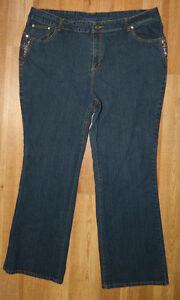 Womens Classic Drama Gold Brand Denim Jeans size 22 / 4