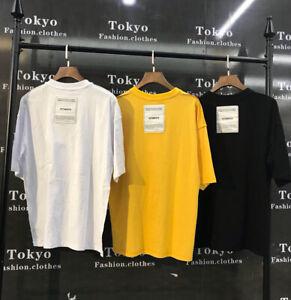 6b7f9c96d06150 19ss Unisex Hip hop T-shirt Wear Inside-out Vetements Back Patch Men ...