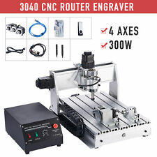4 Axis Cnc Router Machine Wood Engraver Cutter Milling Cutting Engraving Machine
