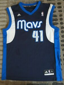 a13e0adbbc17c Details about Dirk Nowitzki #41 Dallas Mavericks NBA adidas Jersey Medium  Autograph Signed