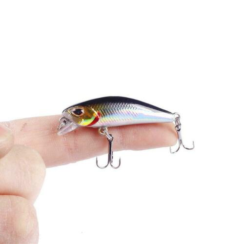 Details about  /Fishing Lure Plastic Artificial Minnow Wobblers Pesca Bass Tackle Hard Crankbait
