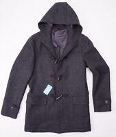 $1995 Battisti Napoli Charcoal Gray Wool Toggle-front Duffle Coat 48/m Italy on sale