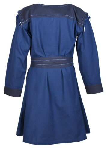 Mittelaltertunika Bent mit abnehmbaren Ärmeln blau Wikingertunika Tunika